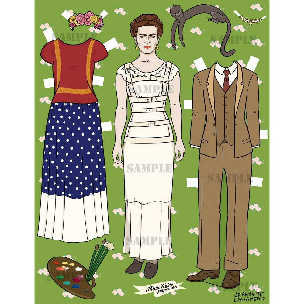 $11.99 FRIDA KAHLO PAPER DOLL