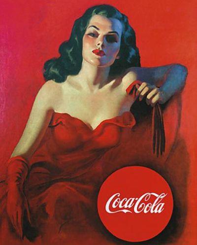 vintage pinup coca cola