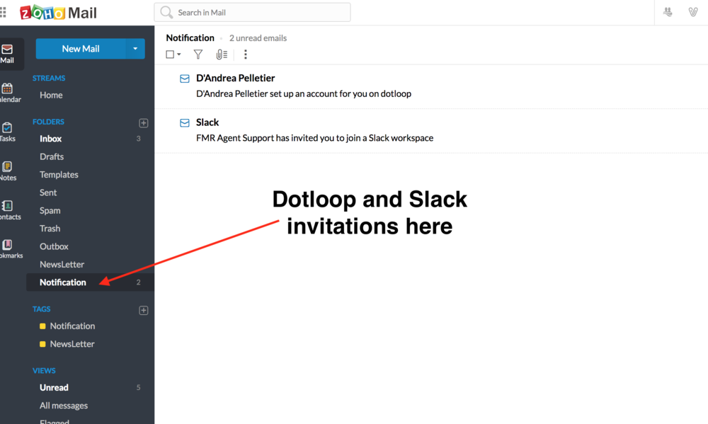Slack and Dotloop in Zoho.png