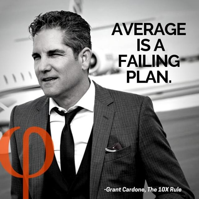 """Average is a failing plan"" #GrantCardone #quote #TheTalentedMsRealEstate #realestate #10x #followmerealty"