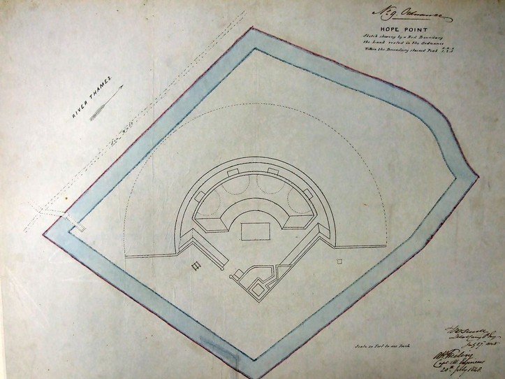 1800 Plan of Hope Battery, dated July 1848.