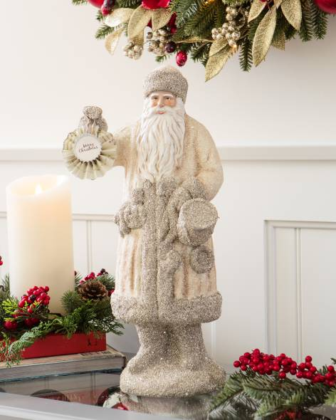 4002155_Ivory & Champagne Vintage Father Christmas Figure_Main.jpg