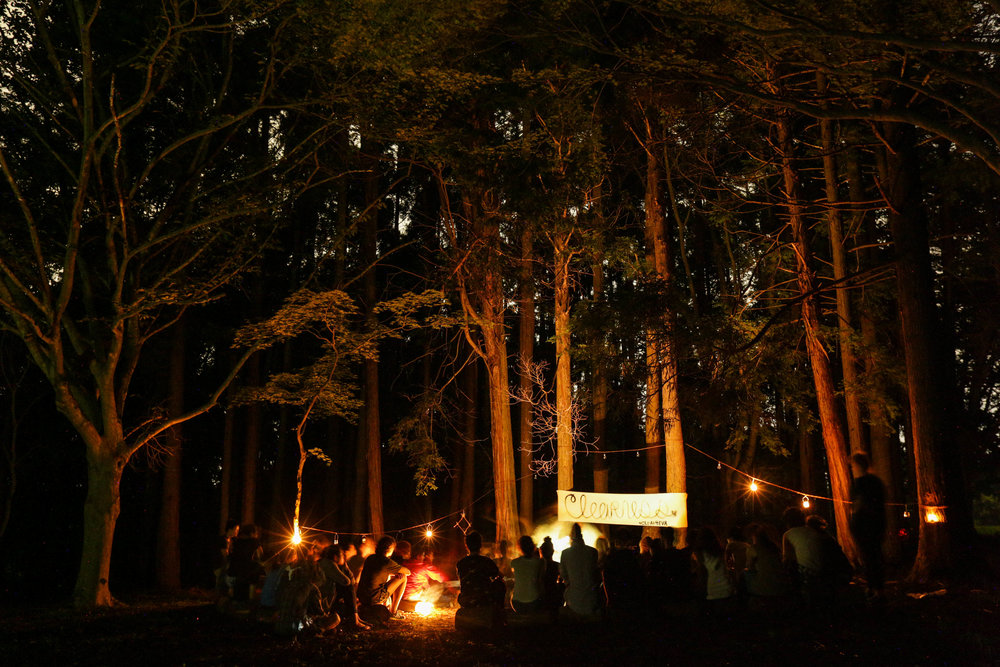 CLEARNESS COMMITTEE - 2017 / Forest Village, Chiba, Japan         A remote (accessible by 20 minute hike) outdoor amphitheater lit by solar power and candle light.
