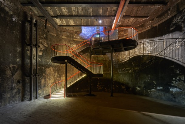 CAVE - 2018 / LondonBrunel Museum Grand Entrance HallAn immersive performance of two 20th-century pieces of music for ensemble and vocalists based on texts by Plato, performed in the world's first underground watertight cylindrical structure.