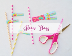 These tags are the perfect way to dress up your straws! You can either print these onto cardstock and wrap around straws using glue or double-sided tape, or print them onto full sheet label paper and simply peel and stick. PRO TIP: use them for more than straws! Add them to food picks, cups, napkin rings, and more.