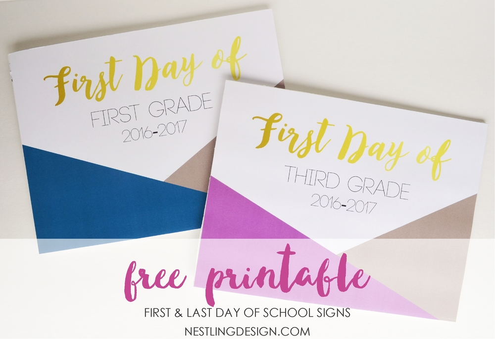 Back to School Free Signs