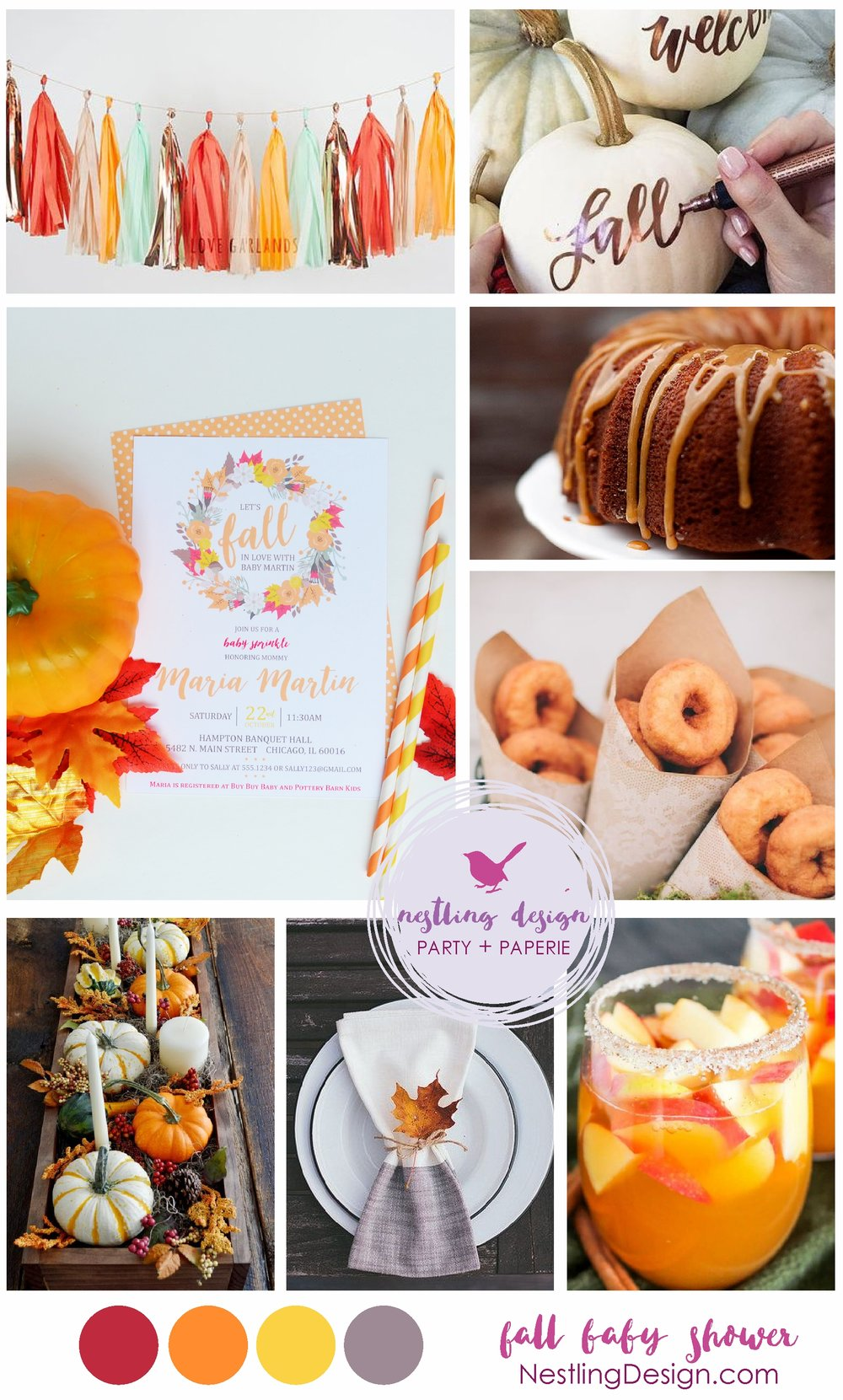 Fall Baby Shower Ideas | NestlingDesign.com