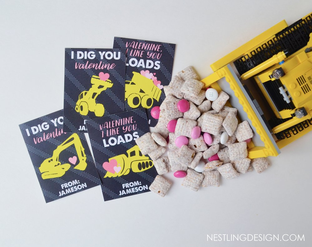 Construction Truck Valentines - 4 Designs