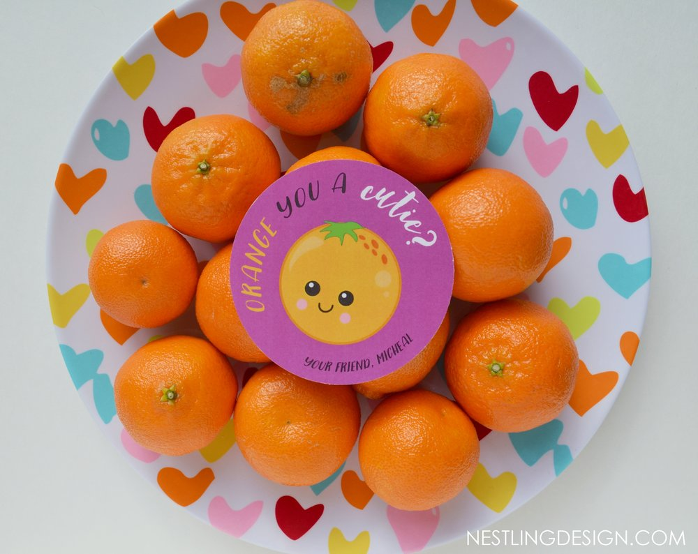 Orange You a Cutie Valentines