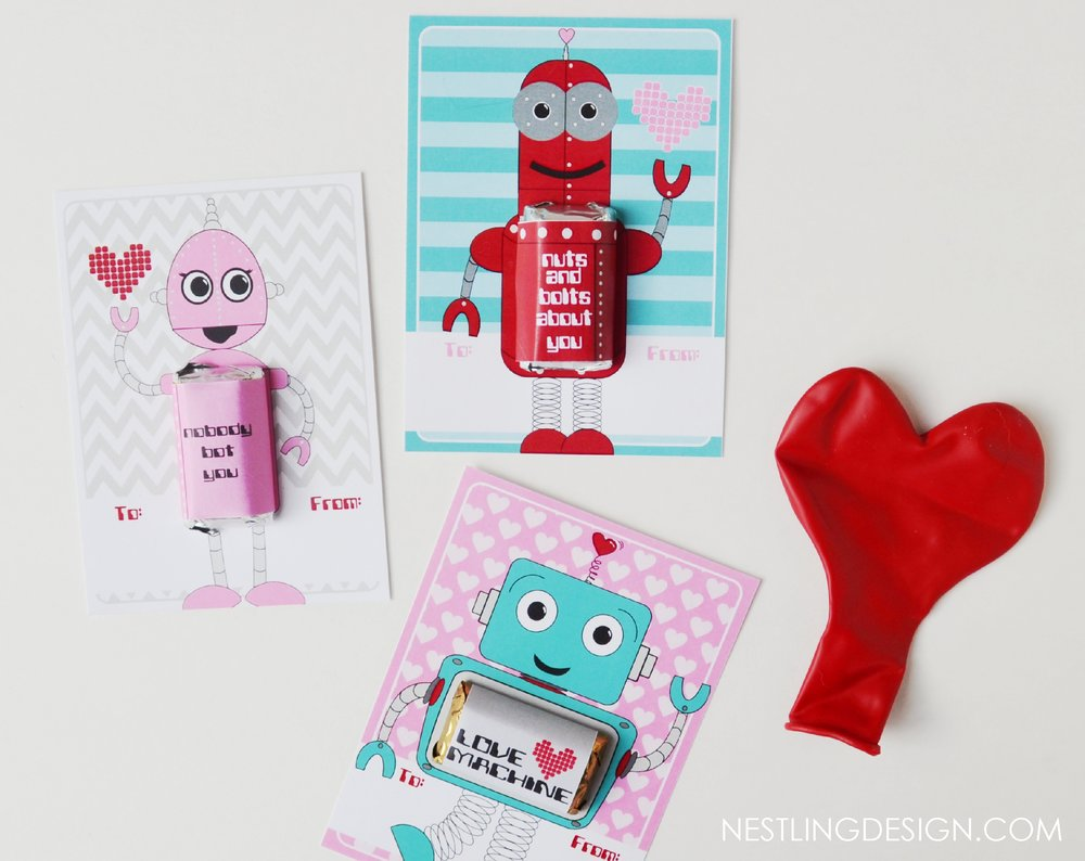 Robot Valentines - Instant Download Only