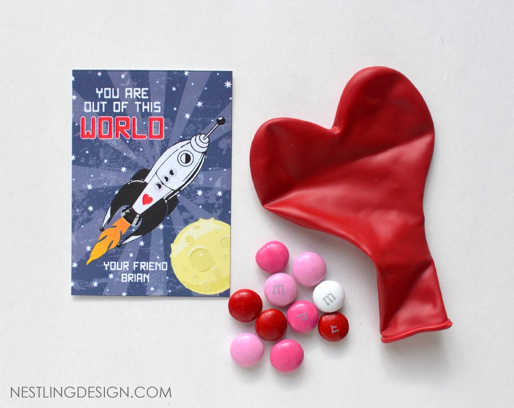 Rocket Ship Valentine