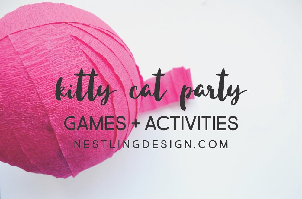 Amazing Kitty Cat Games + Activities | NestlingDesign.com