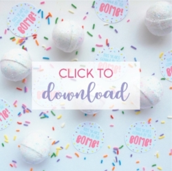 Free printable bath bomb gift tags! | NestlingDesign.com