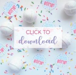 Free printable bath bomb gift tags! | NestlingDesign.com