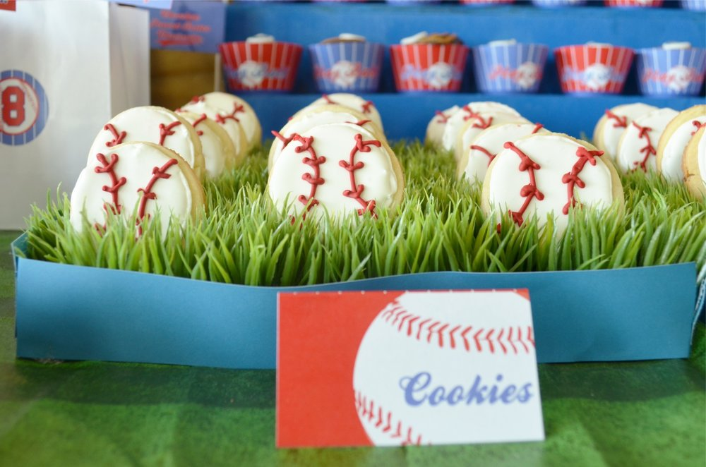 Amazing Baseball Party and baseball cookies! NestlingDesign.com