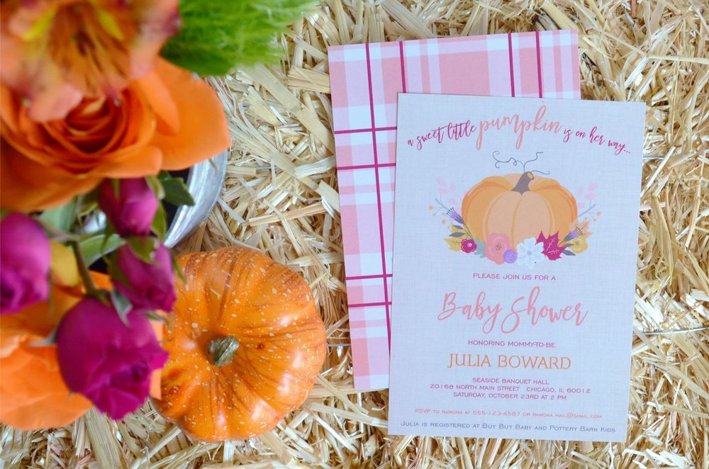 Little Pumpkin Baby Shower | NestlingDesign.com