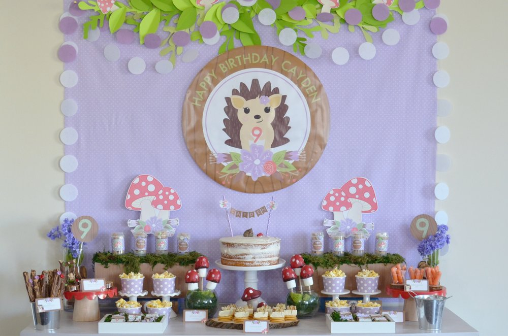 Hedgehog party | NestlingDesign.com