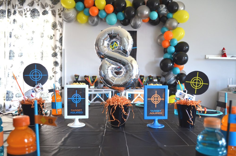 Laser Tag Party | NestlingDesign.com