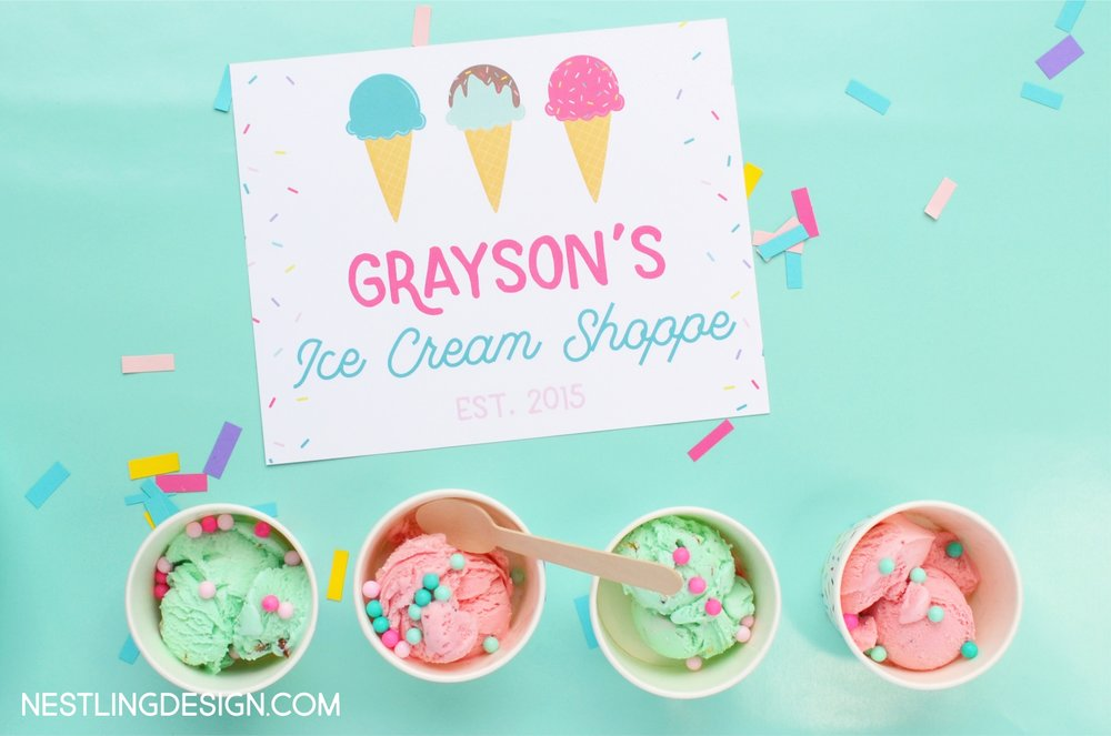 Ice Cream Party | Nestling Design