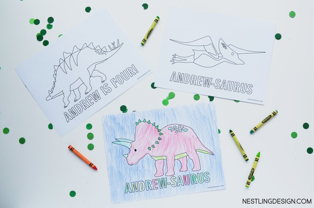 Dinosaur Party | Nestling Design.com