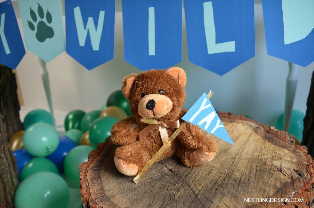 Wild One Woodland Bear Birthday Party