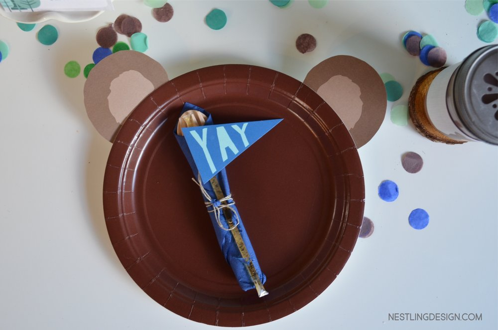 Wild One Woodland Bear Birthday Party