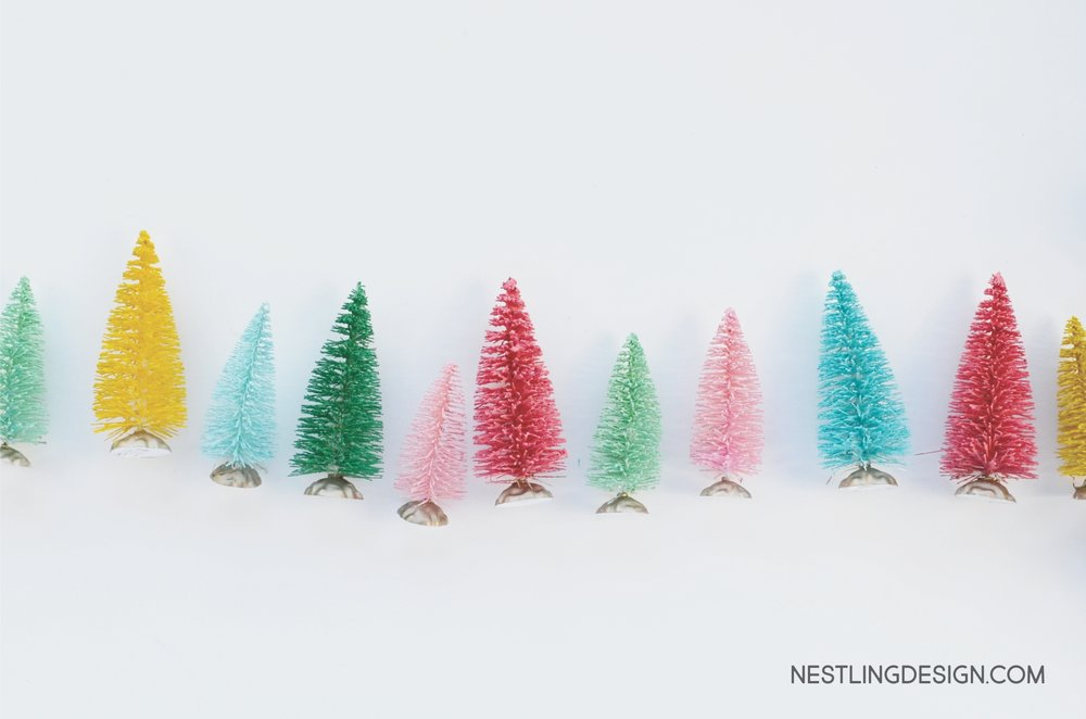 DIY Wire Brush Christmas Trees | NestlingDesign.com