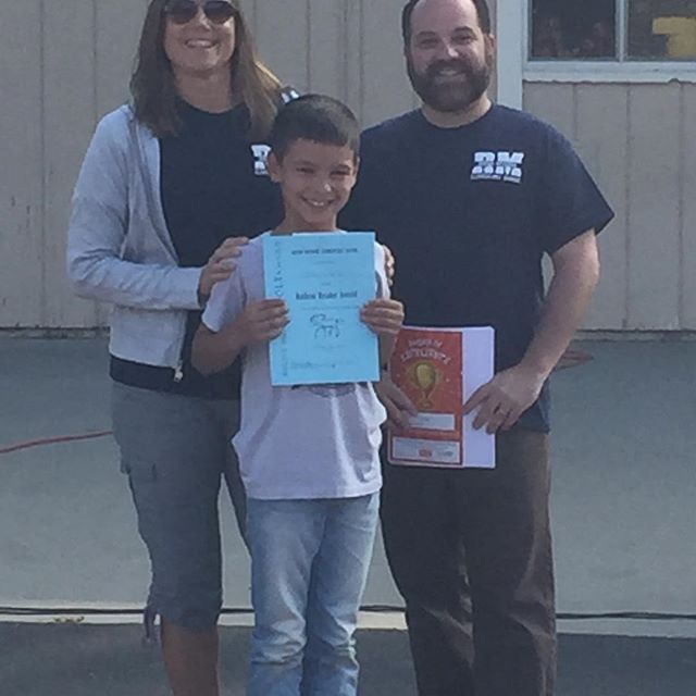Proud mom! My little Jake got a radical readers award this am 💗💗💗💗💗💗