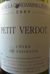 Domaine La Condamine L'Évêque 2014 Petit Verdot (Cotes de Thongue).jpg