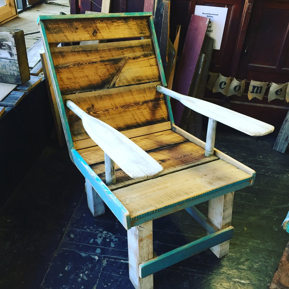barn wood chair