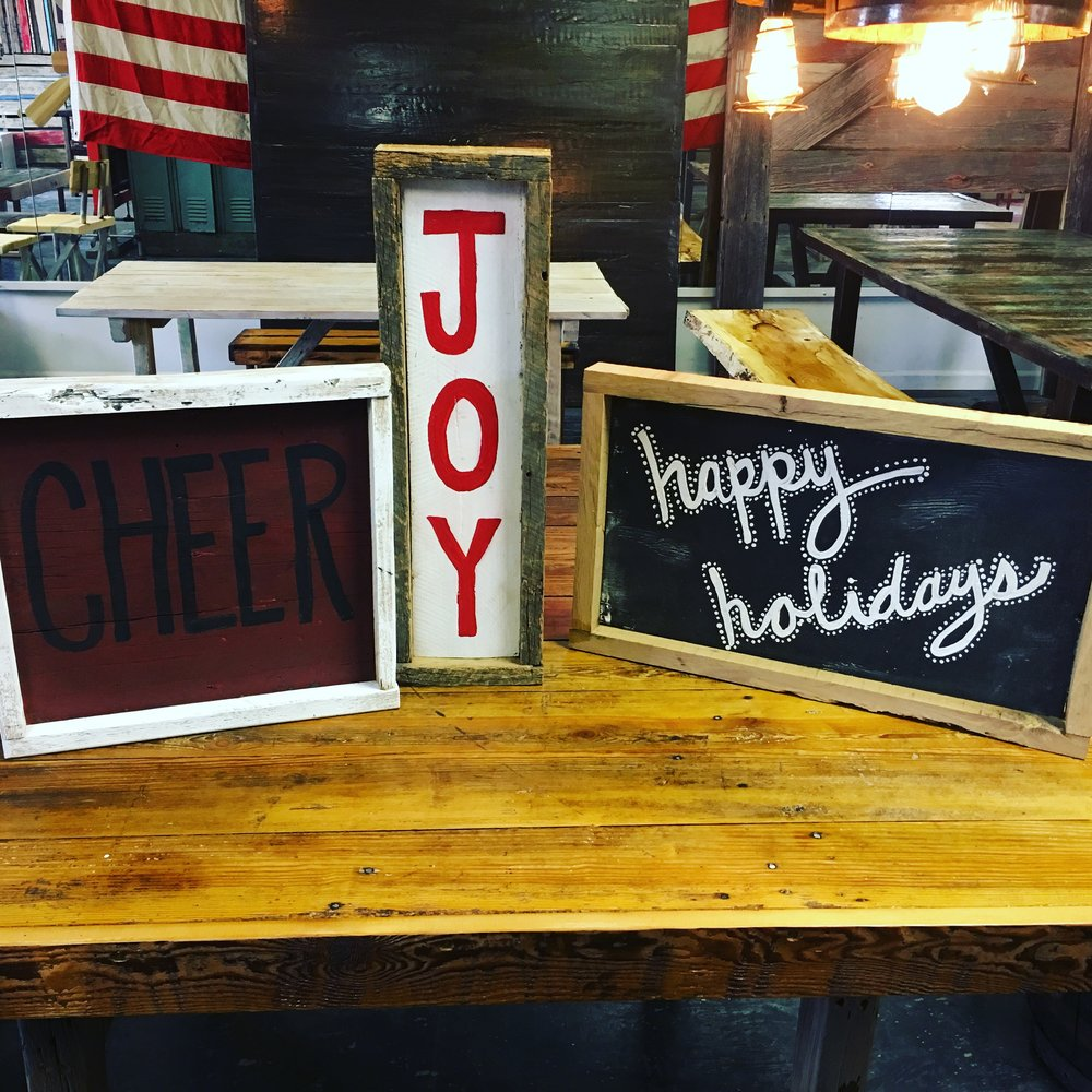 barn wood signs