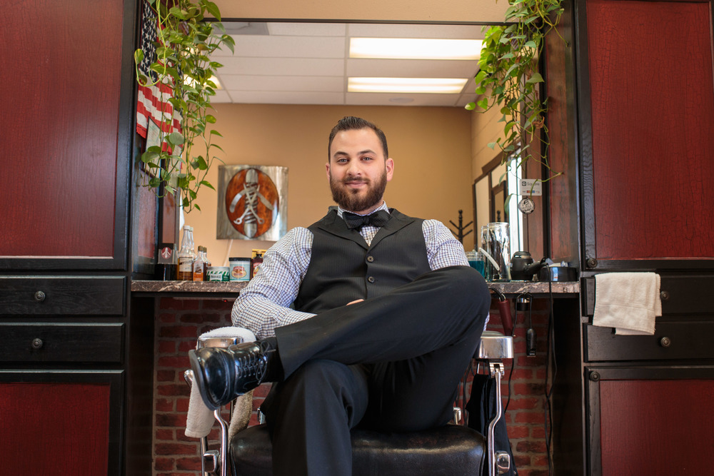 Barber Portrait Ad campaign photography St George Utah