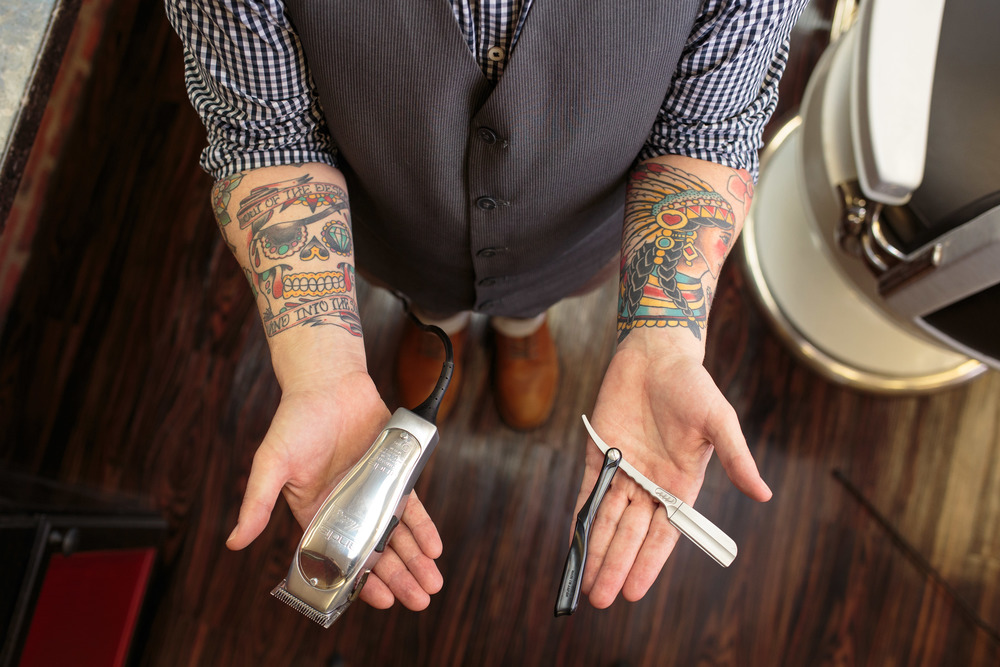 Barber Tools Detail Straight Razor Trimmer Tattoos