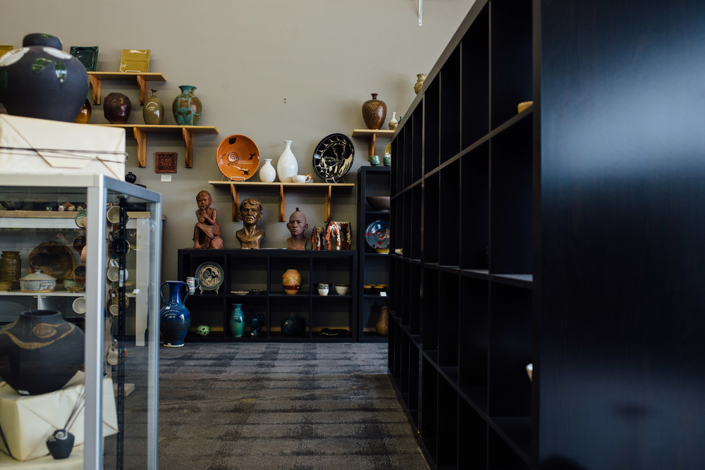 Shop interior pottery studio artist local business St George UT
