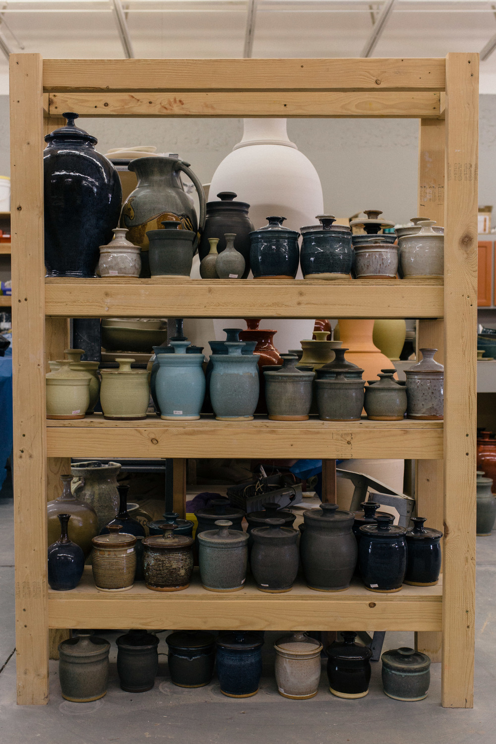 Pottery shelf St George UT Marketing