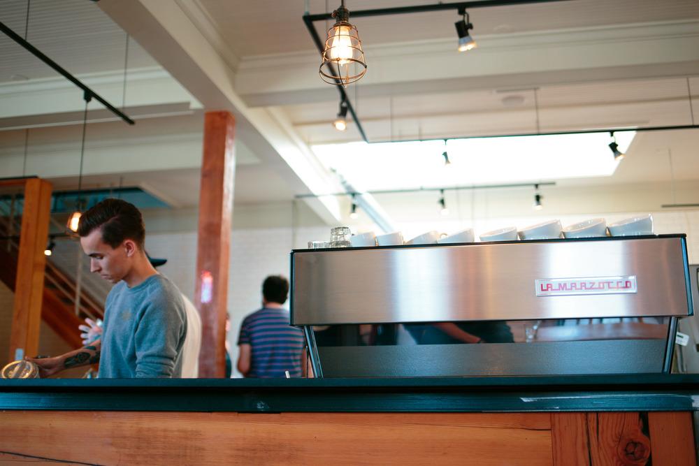 Barista La Marzocco Espresso Machine Cafe Salt Lake City Utah