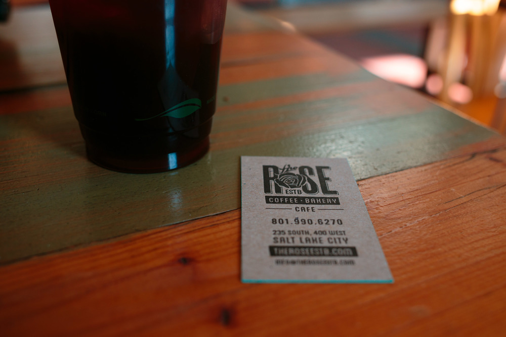 Rose Establishment Local Coffee Cafe Downtown Salt Lake City Utah