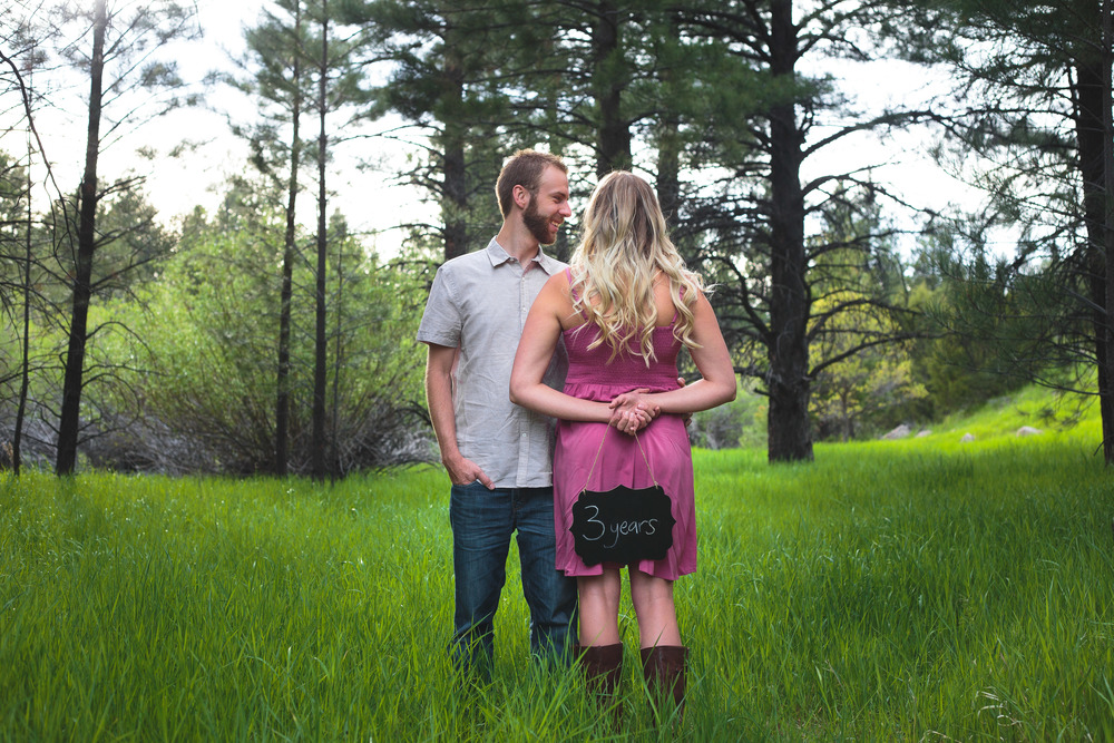 Three year anniversary photoshoot Pine Valley Utah