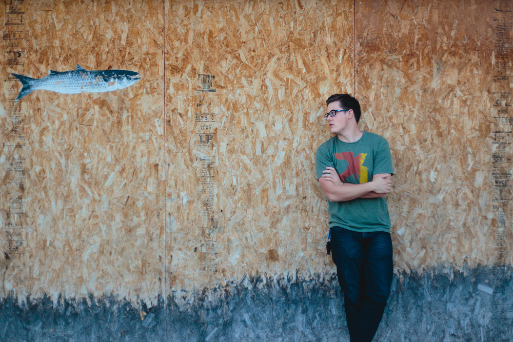 Musician and random fish graffiti