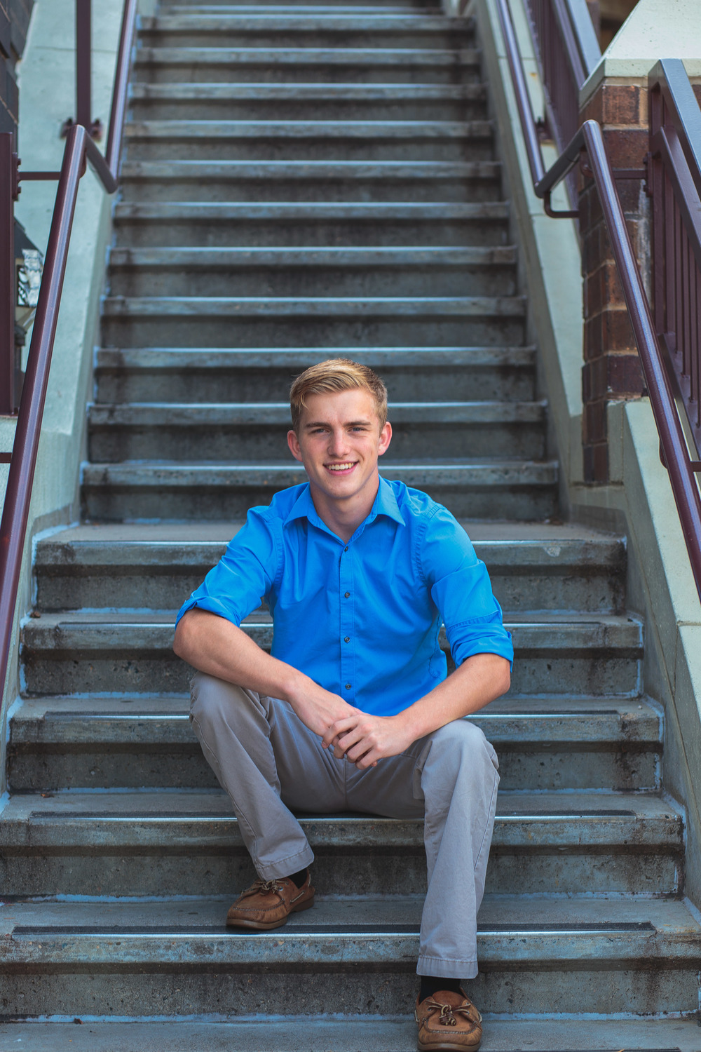 Urban High School Senior Guy Portraits Minneapolis MN