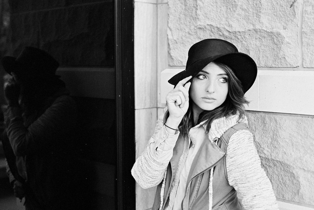 Urban portraits on black and white film