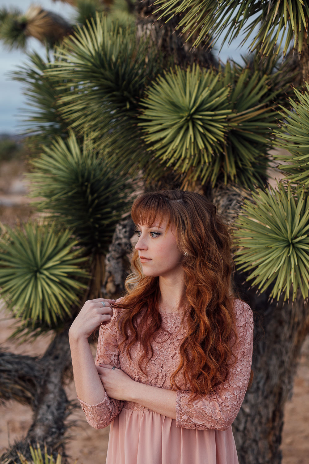 Joshua tree portraits Southern Utah Adventure photographer hybrid film and digital