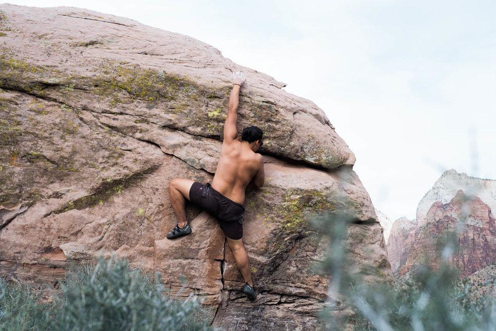 Bouldering in Zion National Park Utah