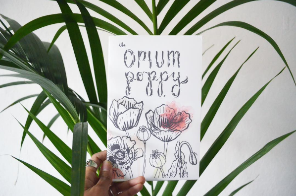 opium poppy - A zine created in collaboration with Amanda Tose summarizing the history, chemistry, and social issues surrounding the opium poppy and its derivatives.