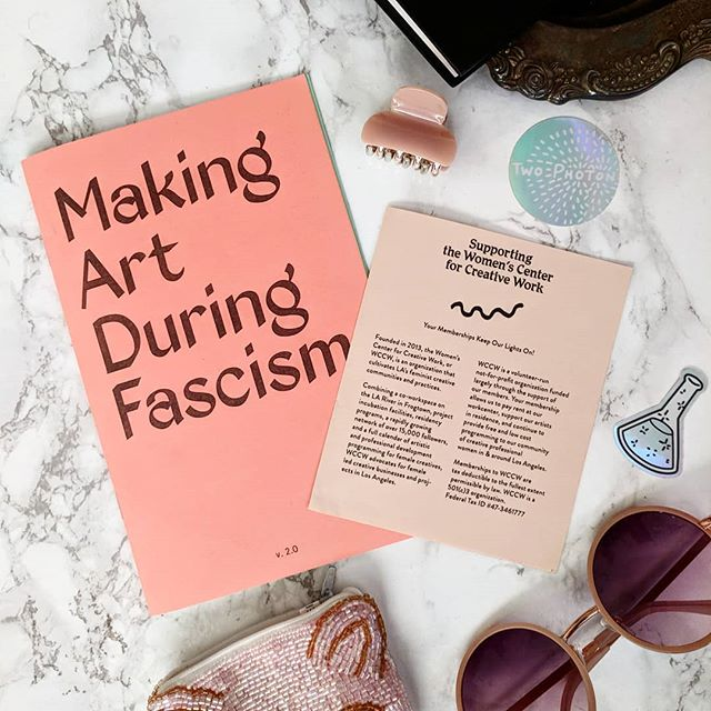 For this #FeatureFriday we want to share a cool workbook we picked up during last month's Los Angeles Zine Fest. This zine is by the @womenscenterforcreativework based in LA, which supports feminist art and communities.
