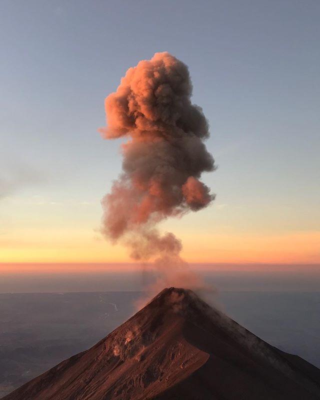 Starting the year with a bang. #acatenango #fuego #volcano #guatemala #nofilter
