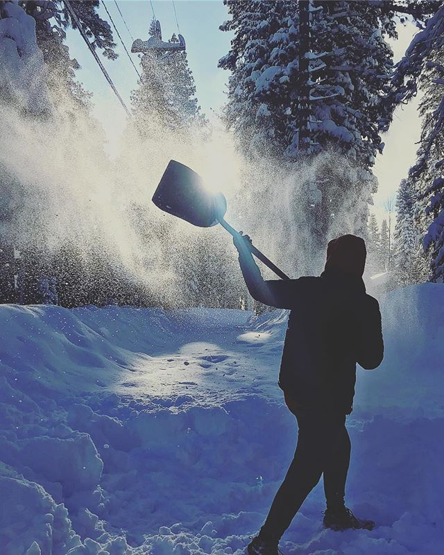 The constant shoveler #tahoe #snow #snowstorm