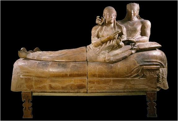 Sarcophagus from Cerveteri; The Etruscans