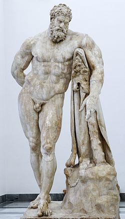 A statue of hercules