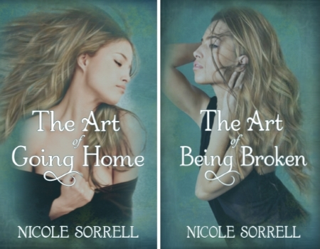 The Art of Going Home, The Art of Being Broken, Nicole Sorrell, womens fiction suspense, women's fiction series .jpg